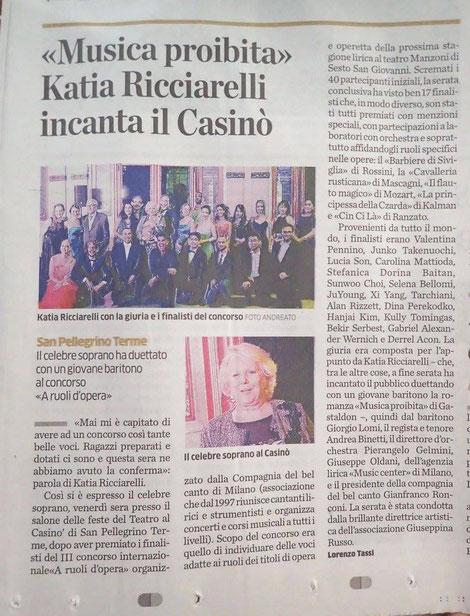 Eco di Bergamo del 25 settembre 2016