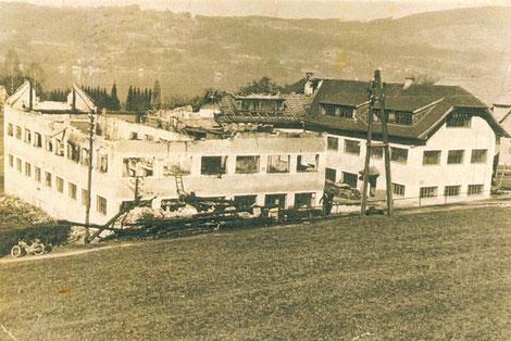 Brand Firma Hummel-Möbel im Jahr 1962