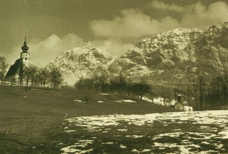 Bild vom ersten Feuerwehrdepot der Steinbacher Feuerwehr