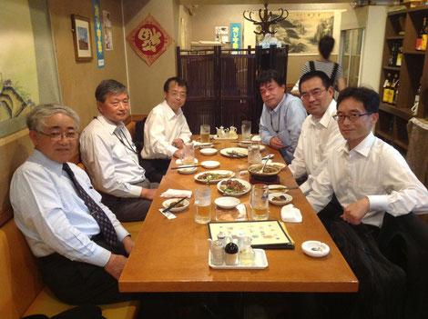 委員会終了後に本部の近くの「千石中華」で食事
