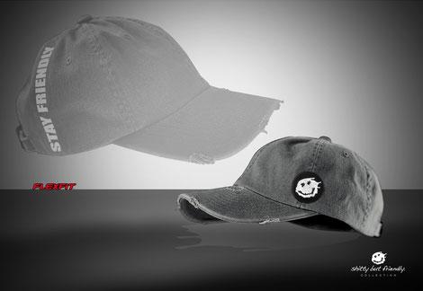 Flexfit Cap 2-farbig und Schotten-Look