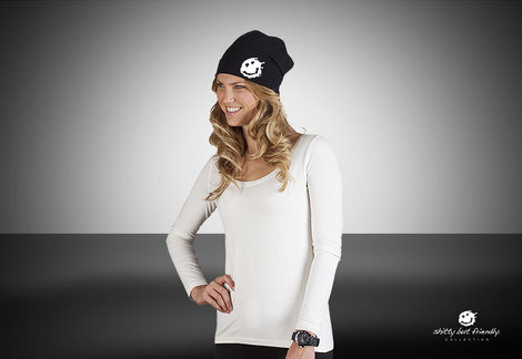 Beanie in black und sports grey
