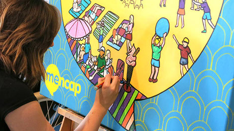 Giant colouring for charity