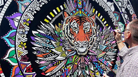 Giant Colouring In Canvas Art