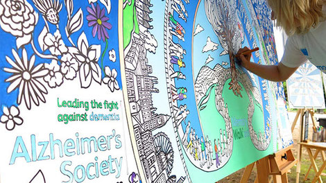 Charity colouring in art