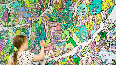 Colouring Mural
