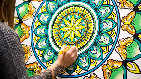 Giant colouring canvas print