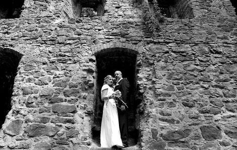 corina & jens in der klosterruine vom kloster nimbschen