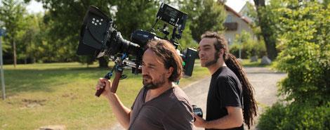 "Patrick Popow und Kameraassistent ""Costa"" René Beißert"