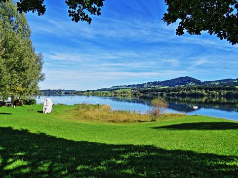 Rottachspeicher See 20 Gehminunten entfernt