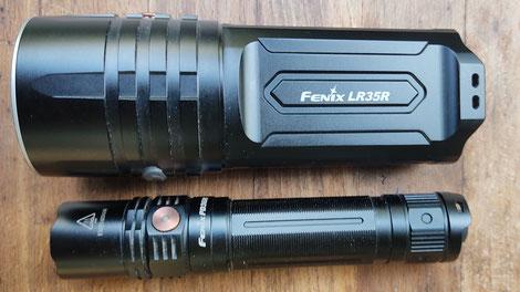 Größenvergleich mit der Fenix PD36R