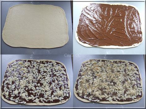 brioche garnie chocolat amande technique