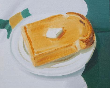 バタートースト 2016 Oil on Canvas 22×27.3cm