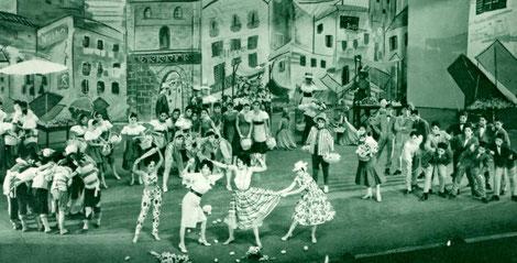1959年星組「アモーレ」 第1部第10場 市場