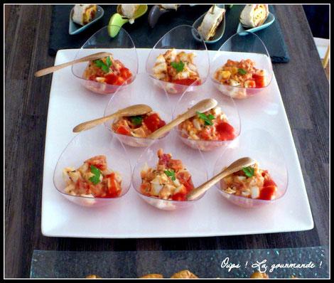Les verrines d 39 uf dur la tomate et basilic oups la gourmande oo recettes faciles et - Recette avec oeuf dur ...