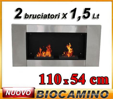 biocamino +2 bruciatori +bioetanolo +caminetto +biologico +etanolo