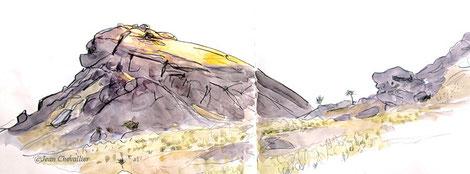 Deraman, aquarelle jean Chevallier