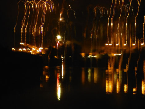 New year's fireworks at Alcoutim