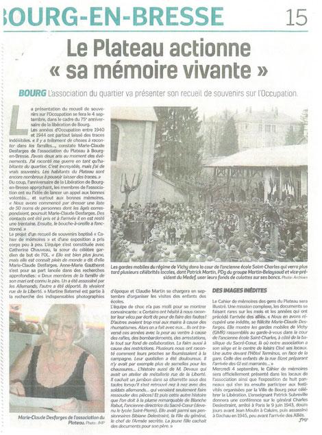 Voix de l'Ain - Juillet 2019