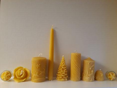 Bienenwachskerze, Bienenwachs, Kerzen, Honigkerzen