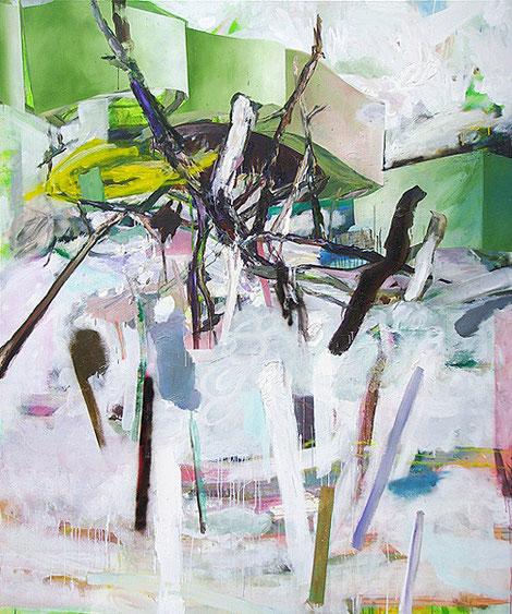 Martin Mohr  Lautmalerei  Acryl, Lack und Öl auf Baumwolle   210 x 175 cm