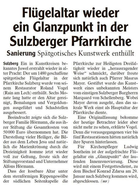 Allgäuer Zeitung vom 22.10.2011