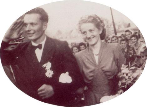 70-jähriges Jubelkönigspaar: Johannes Stute und Theresia Meyer