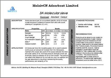 MolsivCN_Technical Data Sheet_Molecular Sieve 3A_TDS