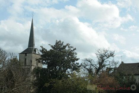 Carignan-de-Bordeaux, clocher de l'église Saint-Martin