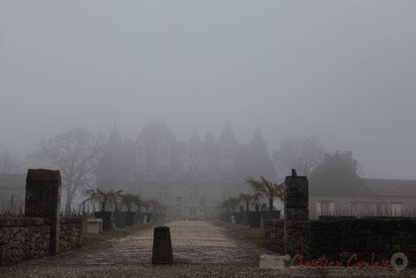Château de Montbazillac, dans le brouillard périgourdin