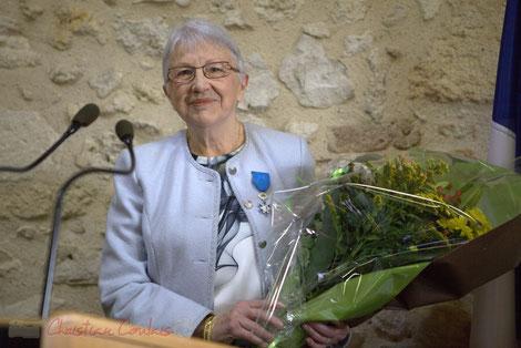 Suzette Grel, Chevalière de l'Ordre national du Mérite