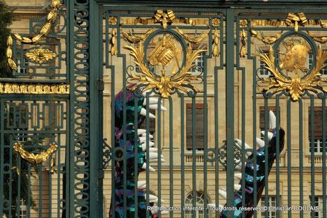 Crocodile de Guillaume Renou. Portail du Jardin public, Palais Rohan, Mairie de Bordeaux