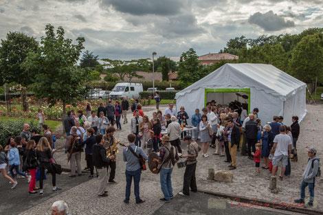 Festival JAZZ360 2016. Apéritif offert par la Mairie, square des écoliers, Cénac