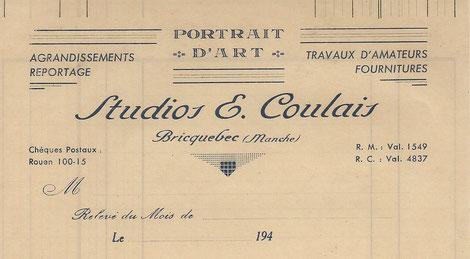 Emile Coulais, photographe à Bricquebec, Manche