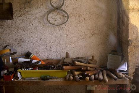 Beaumont-en-Périgord, atelier d'ébénisterie