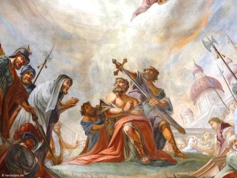 Deckengemälde Martyrium des Jakobus, St. Jakobus, Vierkirchen