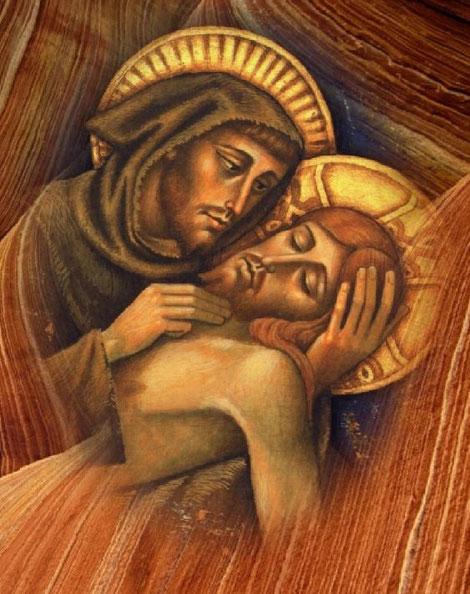 "Bild: ""Franziskus und Christus"" von Benozzo Gozzoli"