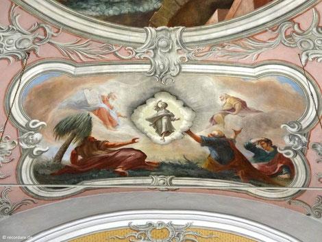Deckengemälde Verklärung, St. Jakobus, Vierkirchen