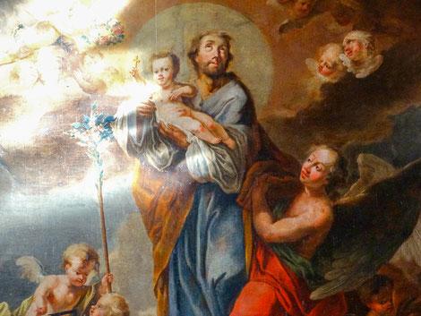 Hochaltargemälde - Heiliger Josef mit Christuskind