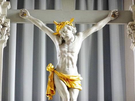 Jesuskreuz, Hochaltar, St. Maria am See, Bad Windsheim