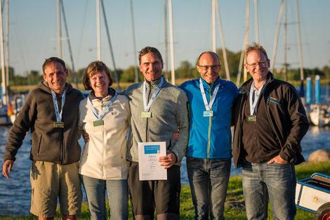 1. Platz Martin Ebel und Crew der Viva (HGC)