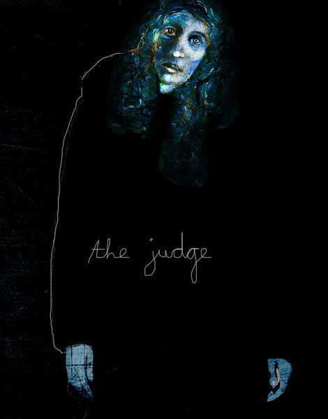 'The judge' mixed media and digital work