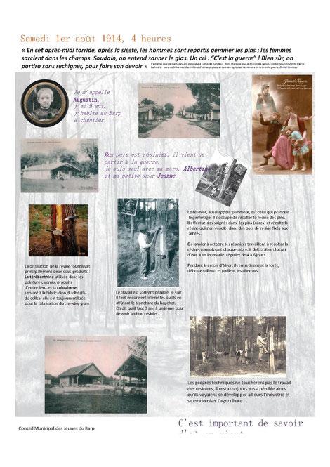 La vie au Barp il y a 100 ans - 1 - Réalisé par le Conseil Municipal des Jeunes