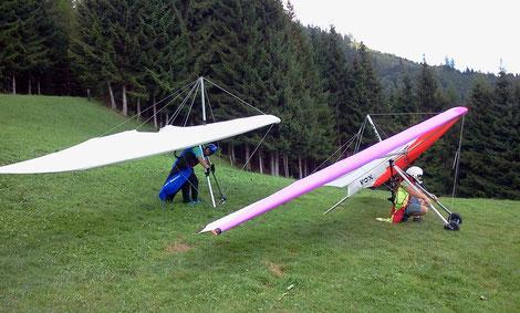 Start am Schulungsberg (500 Höhenmeter)