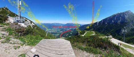 Das Panorama von der Rampe