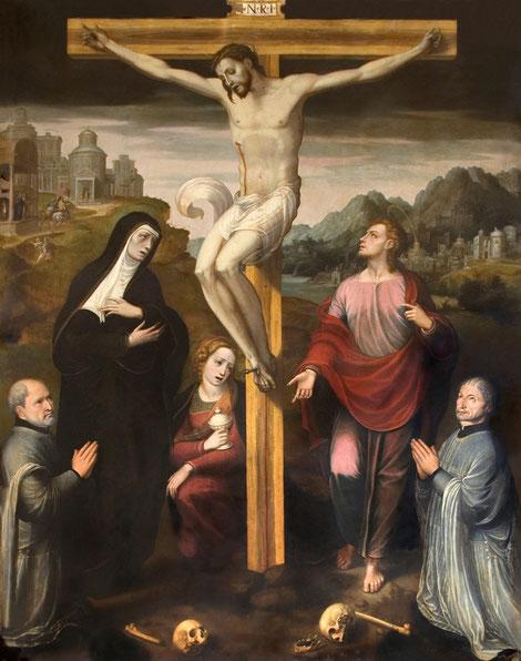 Calvario con Donantes, Capilla de Santa Catalina, Toledo