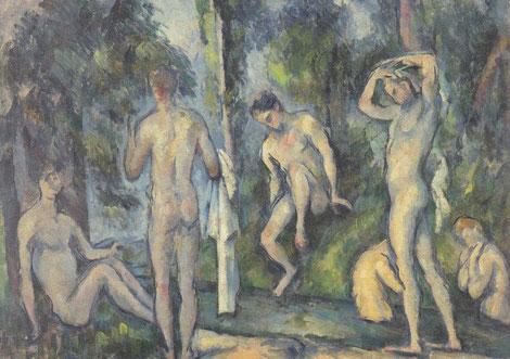 Cézanne, Bañistas 1879.Colección privada.