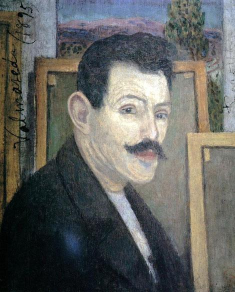 Darío de Regoyos(1857-1913) Autorretrato,1902.Óleo sobre tabla.46x37cm.Museo de Bellas Artes de Asturias. Su talento pone de manifiesto su calidad humana,especialmente la discreción y dignidad con las que había afrontado tanta indiscreción.