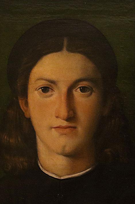 Retrato de joven 1512-13.Óleo sobre tabla.28x22cm.Galeria Uffizi,Florencia. El potencial expresivo del rostro, aunque según radiografías colocó de perfil en primera instancia.Atribuido a Da Vinci, por su excelente carga interpretativa, indagación visual..