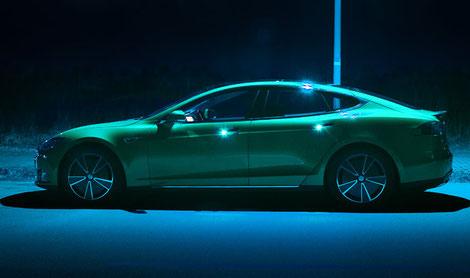 Elektronisches Fahrtenbuch im Tesla Model S mit GPS
